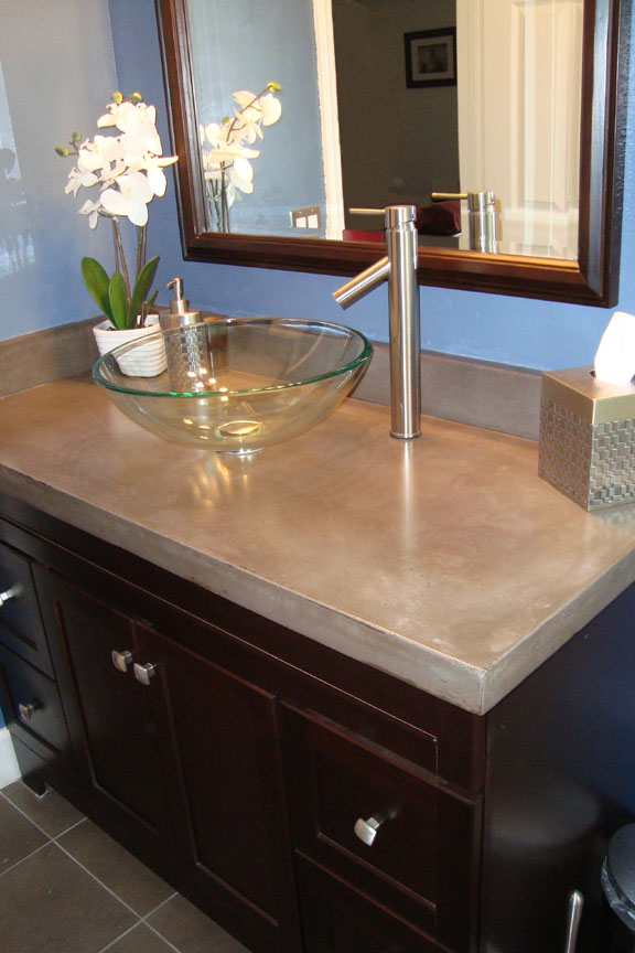 Superior L Shaped Vanity With Integral Slot Drain Sink