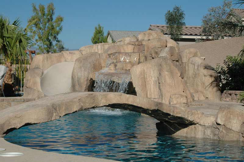 Waterfalls With Waterslides By Arizona Falls Las Vegas