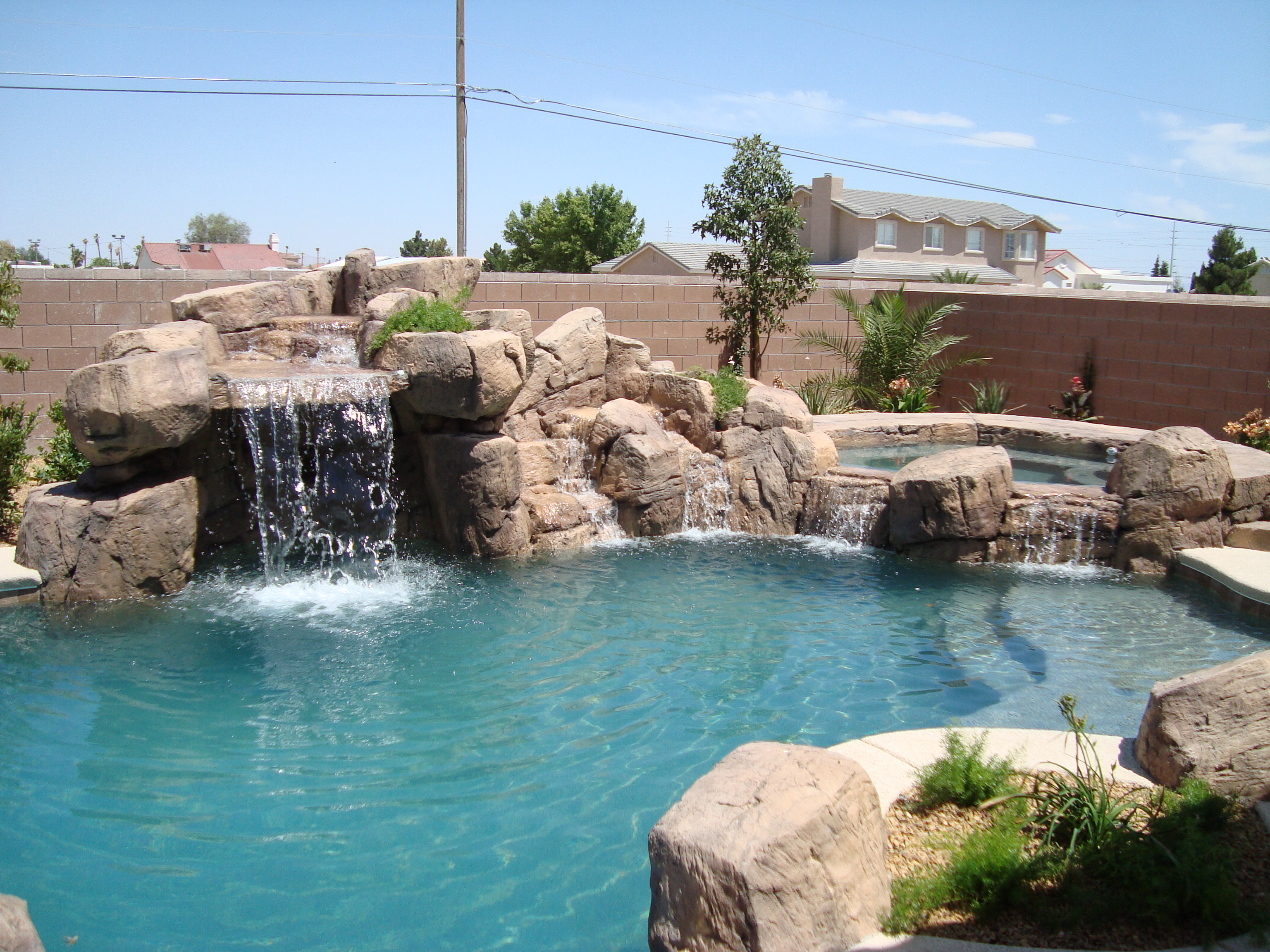 Waterfalls Palapas Concrete Countertops By Arizona Falls Las Vegas